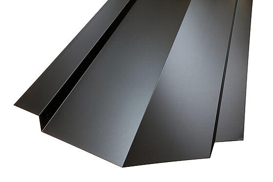 Vinkelrenne hardcoat sort stål 2 meter