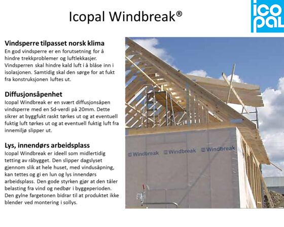 Vindsperre Windbreak 1,3x25 m