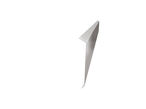 Takfot beslag i stål for lektet tak silver 170 mm