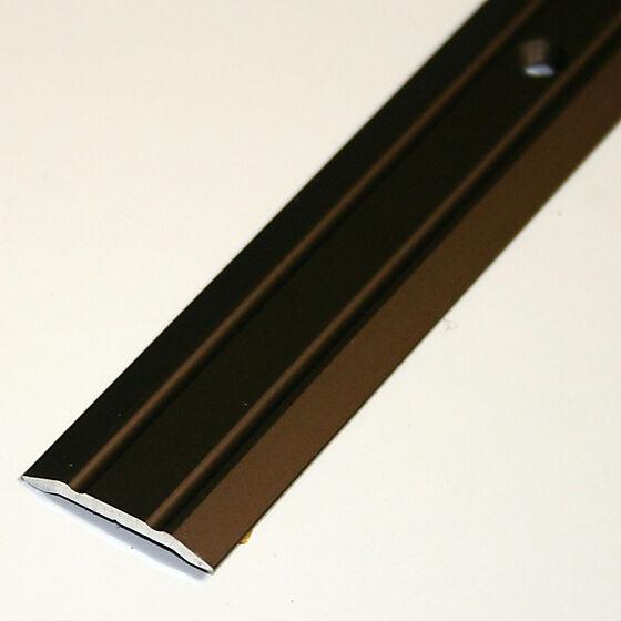 Overgangslist nr. 1 AB bronseeloksert aluminium, borret med skruer, 1 m