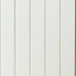 Veggplate MDF perlestaff hvit 11x620x2390 mm