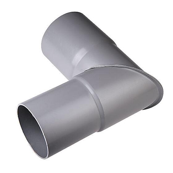 Knerør 90 grader 75 mm grå