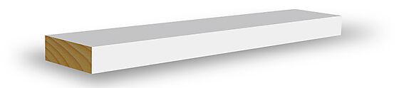 Glattkantlist enkel furu hvit bomull 12x45x4400 mm NCS S0502Y