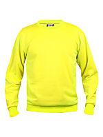 Basic genser rund hals 021030 HiVis gul S