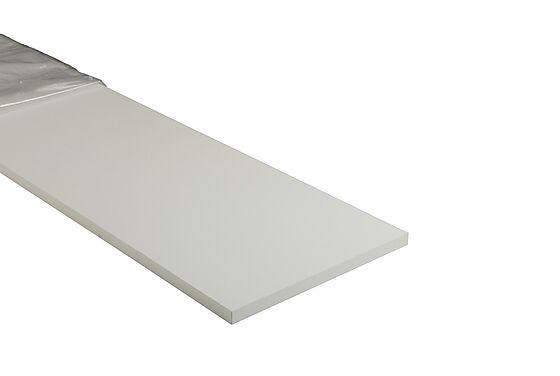 Hobbyplate hvit melaminbelagt 2480x200x18 mm