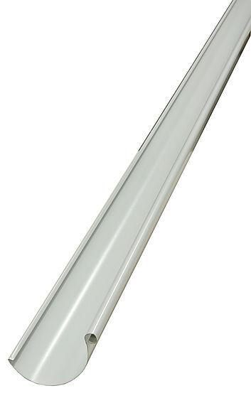 Takrenne 01 stål hvit 125 mm 4 m