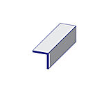 Vinkellist PVC hvit 20x20x2600 mm