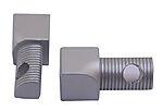Hjørnestift innvendig anodisert aluminium 8 mm pakke a 2 stk