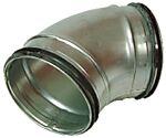 Bend 90 grader galvanisert stål m/pakning ø 160 mm