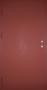 Branndør A60S 120x210 cm høyrehengslet 1-fløyet med gerikt