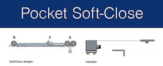 Dempemekanisme tilpasset Pocket skyvedørskarm