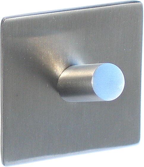 Square enkel selvklebende krok blankpolert stål