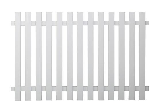 Stakitt aluminium 65 hvit 180 x 94 cm