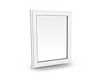Vindu toveissvingende 1090x1190 mm 2-lags glass høyrehengslet hvit