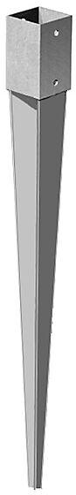 Stolpespyd 100x100x750 mm varmgalvanisert