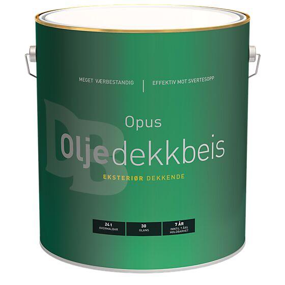 Oljedekkbeis 30 eksteriør base hvit 9 liter