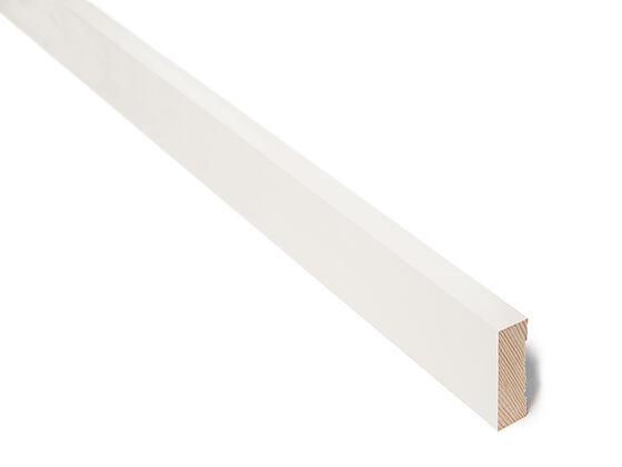 Karmlist moderne furu klassisk hvit 17x56x4400 mm S0500N