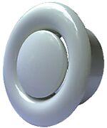 Avtrekksventil hvit stål Ø 100 mm
