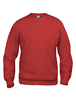Basic genser rund hals 021030 Rød XS