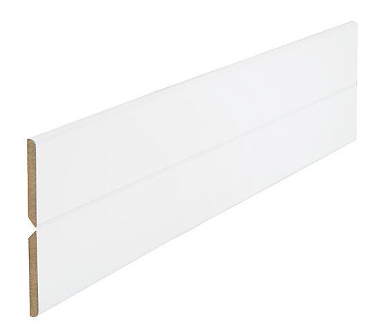 MDF flexilist 4x70x2400 mm hvit folie m/tape