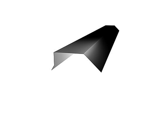 Vindskibeslag L-Tak sort 2 meter