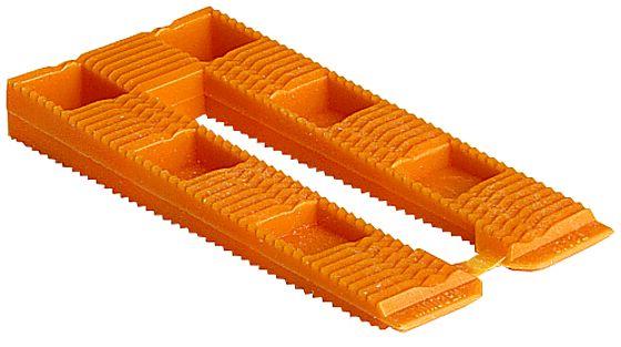 Oransje kile henge kort 8x40x80 mm pakke á 30 stk
