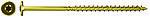 Konstruksjonsskrue  8,0x160 fpf-wt montasjehode gul a50