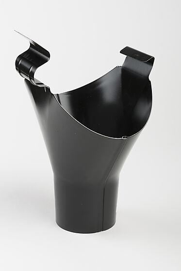 Tappestykke stål Ø125/75 mm sort