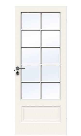 Style SP10 innerdør med glass 90x210 cm hvit