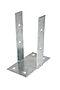 Stolpefot m/plate 90 mm galvanisert stål