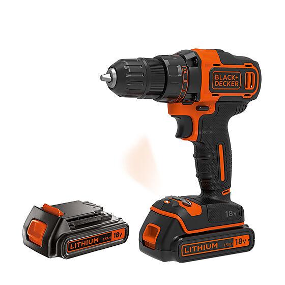 Black+Decker drill 18V BDCDD186KB inkl/ 2 batterier