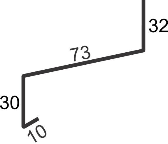 """vindusbsl 3"""" over 1,4m hvit"""