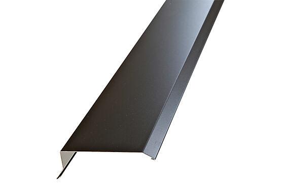 Gavlbeslag hardcoat brunrød aluminium 2 m