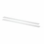 Dekklist til bærelist 425 mm hvit