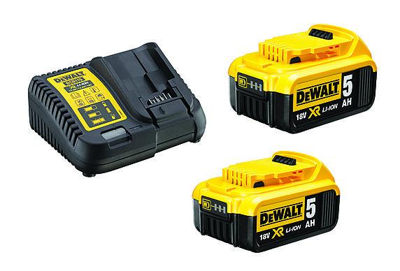 lader+batteri x2 18v 5ah