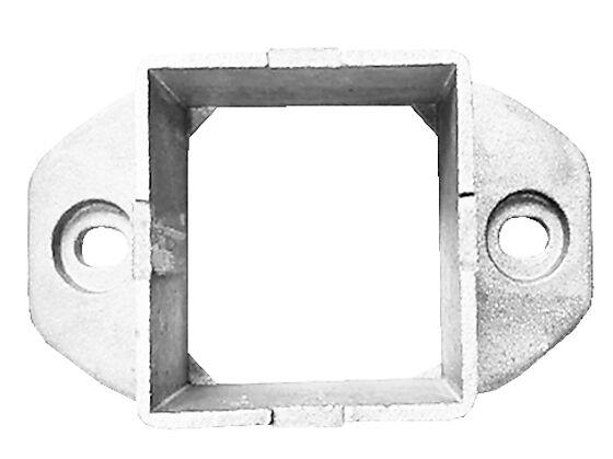 Brakett rekkverk 43 aluminuim hvit
