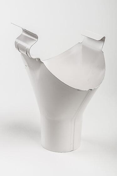 Tappestykke stål 125/75 mm hvit