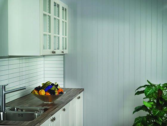 Veggplate i trefiber 8-bord frost 11x620x2390 mm
