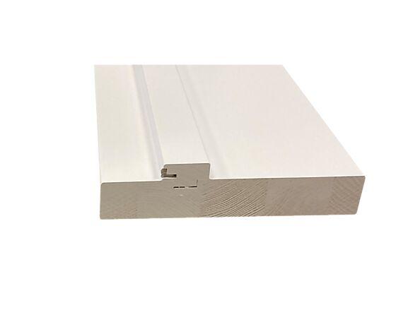 Scanflex karm 122 mm flat terskel hvit 90x210 cm