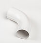 Bend stål 75 mm hvit