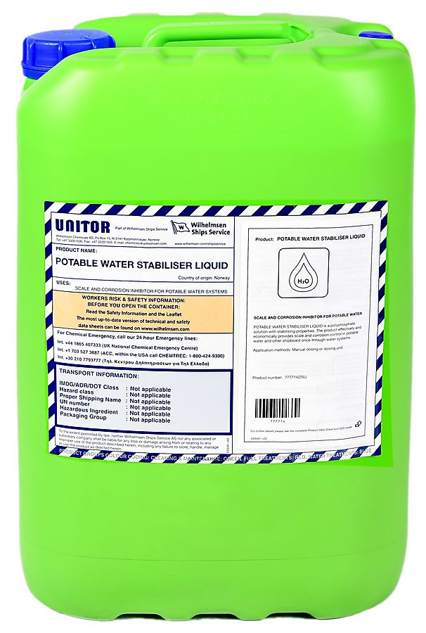 Potable Water Stabiliser Liquid