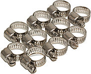 "HOSE CLAMP FOR 1/4"" HOSE (10 PCS thumbnail"