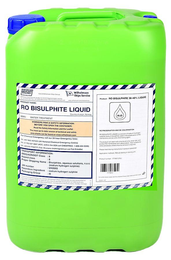 Ro Bisulphite 25 Ltr Liquid 38 40