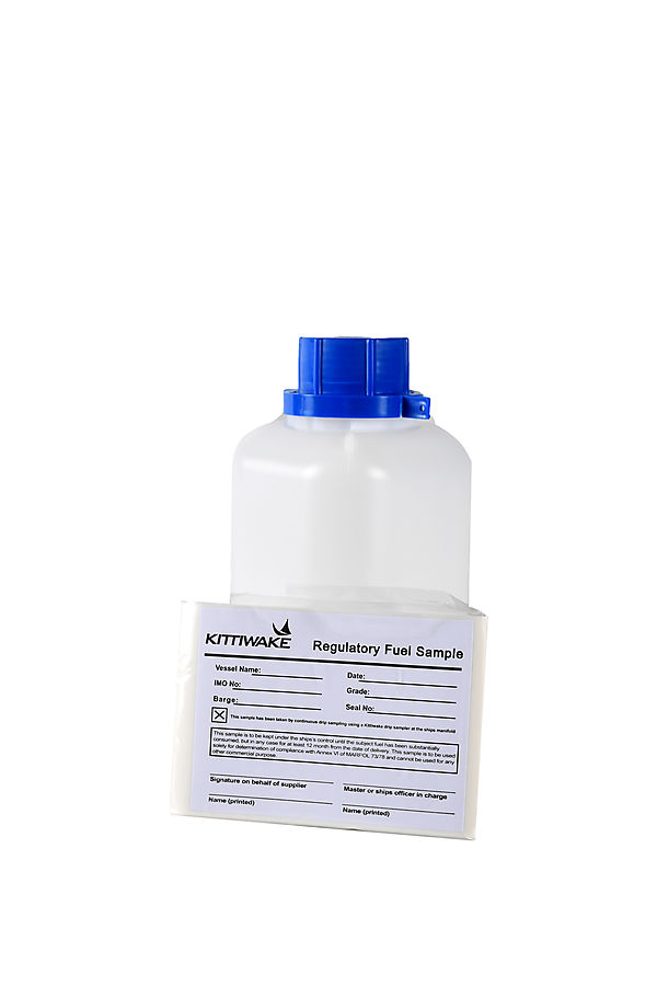Sample bottle with label